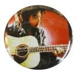 Badge Bob Marley jouant de la guitare