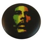 Badge Bob Marley Visage vert jaune rouge