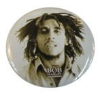 Badge Bob Marley NB fond blanc