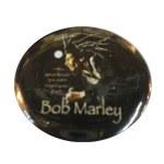 Badge Bob Marley Profil fond noir