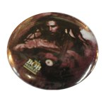 Badge Bob Marley tenant une guitare