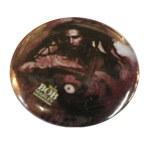 Badge Bob Marley tenant une guitare