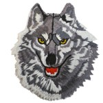 Patch Loup gris détouré