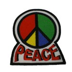 Patch PEACE 4 couleurs