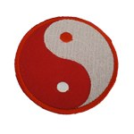 Patch Yin Yang rouge et blanc