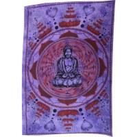 Tenture lotus Bouddha mauve
