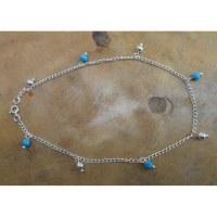 Chaine de cheville pampilles et perles