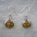 Boucles d'oreilles en argent et ambre