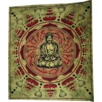 Maxi tenture pistache Bouddha lotus