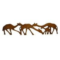 Fresque famille girafes 2