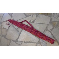 Housse 150 didgeridoo rayée framboise