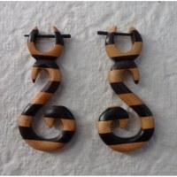 Boucles d'oreilles bois S