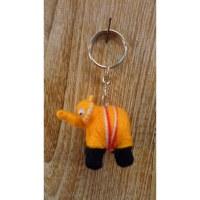 Porte clés Ephant l'éléphant orange