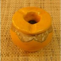 Cendrier céram jaune