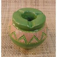 Cendrier céram vert