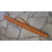 Housse 140 didgeridoo rayée orange