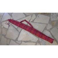 Housse 140 didgeridoo rayée framboise