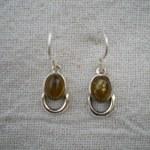 Boucles d'oreille en ambre Demi-lune
