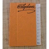 Petit carnet téléphonique orange