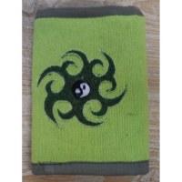 Portefeuille tribal yin yang vert