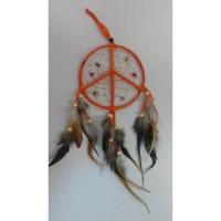 Attrape rêves 12 paix et amour orange