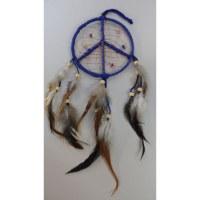 Attrape rêves 12 paix et amour marine