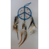 Attrape rêves 12 paix et amour bleu