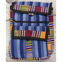 Sacoche népalia weaving bleu