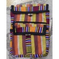 Sacoche népalia weaving orangé