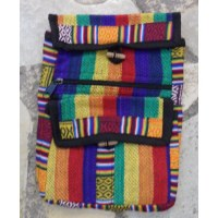 Sacoche népalia weaving rainbow