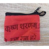 Porte-monnaie sanskrit rouge