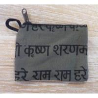 Porte-monnaie sanskrit kaki