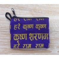 Porte-monnaie sanskrit violet