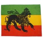 Ecusson Lion rasta noir