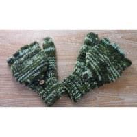 Mitaine moufle mouchetée vert