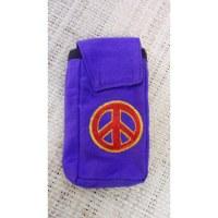 Pochette smartphone peace & love brodé