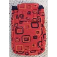 Pochette smartphone square rouge