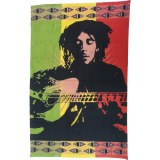 Tenture Bob Marley et sa guitare