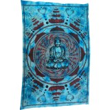 Tenture lotus Bouddha bleu