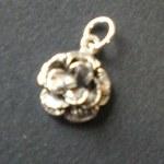 Pendentif argent rose miniature