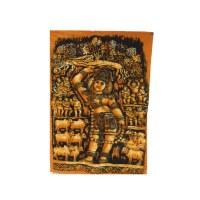 Batik déesse hindoue orange