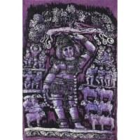 Batik déesse hindoue lilas