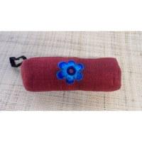 Trousse fleur bleue