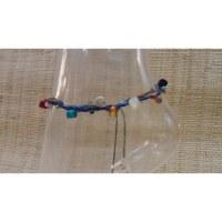 Bracelet de cheville bleu marine sea shell