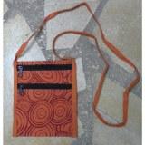 Sac orange motif cercle