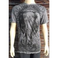 Tee shirt gris éléphant Om