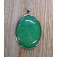 Pendentif 1 pierre verte