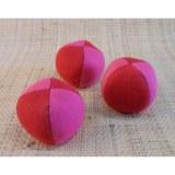 Lot de 3 balles de jonglage bicolores