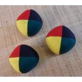 Lot de 3 balles de jonglage couleur rasta
