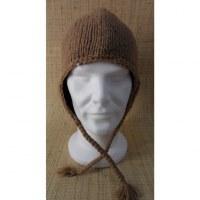 Bonnet en laine unie beige